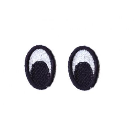 oczy eliptyczne haftowane