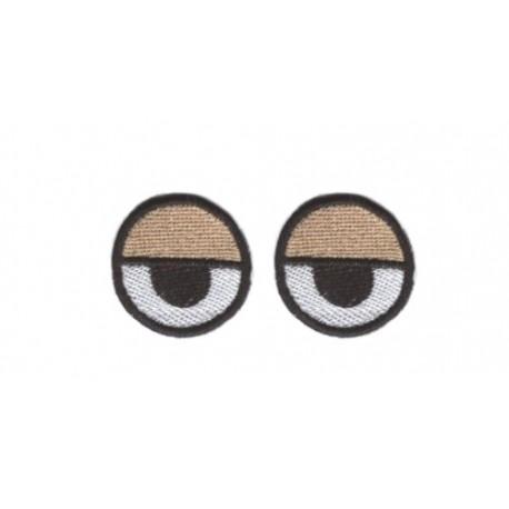 oczy haftowane okrągłe pantera