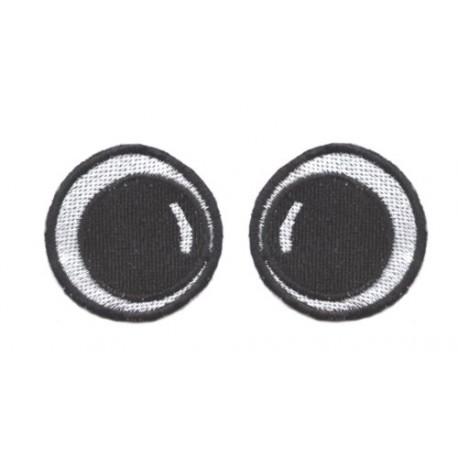 oczy okrągłe haftowane