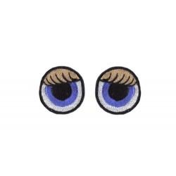 oczy okrągłe haftowane kolorowe