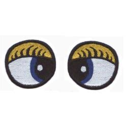 oczy owalne haftowane