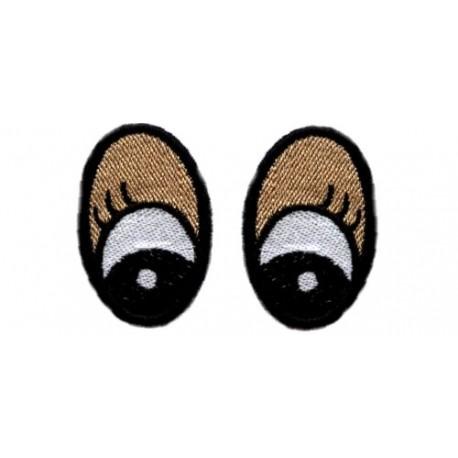 Oczy Eliptyczne 48X30 kol.powieka i rzęsa