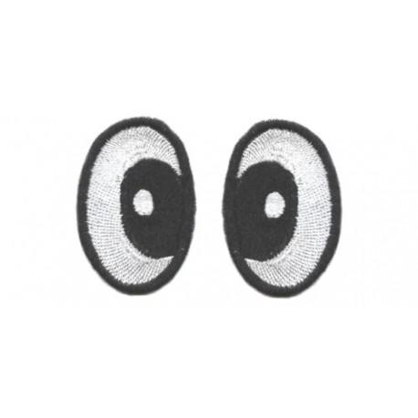Oczy Eliptyczne czarno-białe zezowate 48X30
