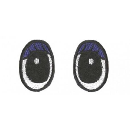 Oczy Eliptyczne z kol.Powieką i rzęsą
